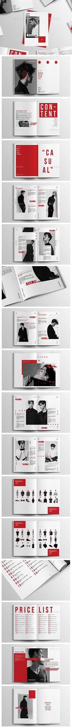 Monocrime Lookbook - #Magazines Print Templates