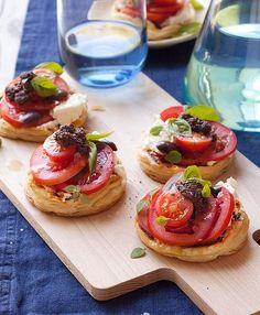 Fresh tomato and olive tarts by Jill Dupleix