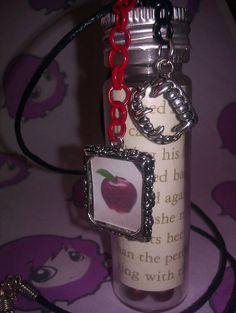 Twilight Page Book Fang Apple Pendant by PinkysJewellery on Etsy, $5.00