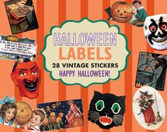 Cats Halloween Holidays Imprint: Laughing Elephant Labels & Decals Witches'