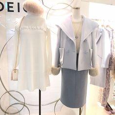 deicy_official:white ×blue☃️ #deicy  #mecouture  #deicyyurakucho  #東京 #有楽町 #マルイ #white  #blue #beige  #ootd  #コーディネート #2017 #winter  #aw #onepiece  #coat  #skirt  #bag  #cute  #可愛い 2017/12/26 17:14:03