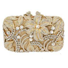 flower shape studded diamond clutch bags Luxury women crystal 82ec28ddc1c1