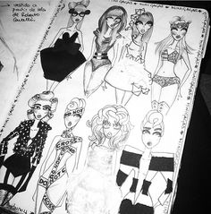 Fashion sketch by Rubén Galarreta