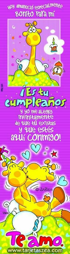 Feliz cumpleaños amor Bday Cards, E Cards, Greeting Cards, Happy Birthday Notes, Happy Birthday Wishes, Birthday Images, Birthday Quotes, Hearts And Roses, Happy Wishes