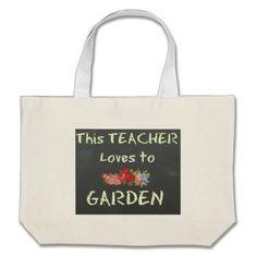 This TEACHER loves to GARDEN - Tote