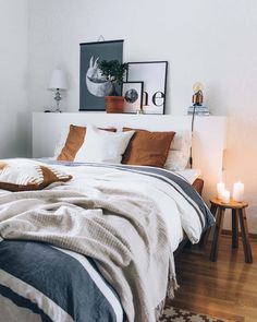 26 Rustic Bedroom Design and Decor Ideas for a Cozy and Comfy Space - The Trending House Neutral Bedroom Decor, Home Decor Bedroom, Modern Bedroom, Bedroom Furniture, Living Room Decor, Bedroom Ideas, Contemporary Bedroom, Bed Ideas, White Wall Bedroom