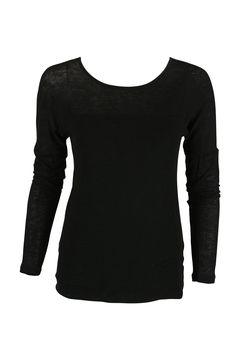 c5f5079beac703 Graham   Spencer Womens Black Scoop Neck Long Sleeve Tee Shirt P. AJM  FASHIONS