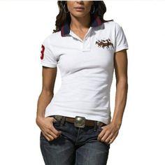 Pony Women :: Polo Ralph Lauren White T Shirt Women\u0026#39;s Custom-Fit Match. ralph lauren online outlet Refined Logo White Breathable Short Sleeved