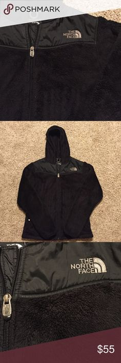 Fuzzy Northface Extremely soft and fuzzy women's North Face jacket. Has been worn, but still in excellent condition. Has very slight pilling from being washed recently, but if purchased I will pick those off. This comes from a smoke free home. NO TRADES The North Face Jackets & Coats