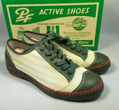 PF-Flyers-Mens-two-tone-casual-hipster-1930s-style-shoes-NIB