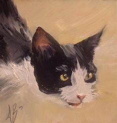"Daily Paintworks - ""Broken Whiskers"" - Original Fine Art for Sale - © Annette Balesteri"