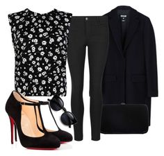 Room To Breathe by betty220285 on Polyvore featuring polyvore fashion style Dolce&Gabbana MSGM Indigo Collection Christian Louboutin Sergio Rossi women's clothing women's fashion women female woman misses juniors