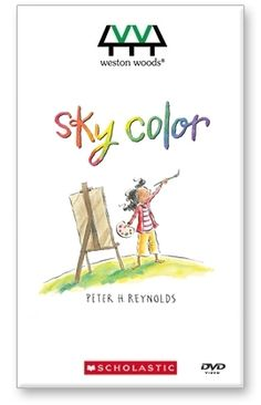 Sky Color Film by Peter H. Reynolds  (FableVision Studios & Weston Woods Studios, 2010)    Marisol loves to paint. So when her teacher asks her to help make a mural for the school library, she can't wait to begin! But how can Marisol make a sky without blue paint? After gazing out the bus window and watching from her porch as day turns into night, she closes her eyes and starts to dream. . .    This film serves as a gentle reminder to look beyond the expected. $59.95