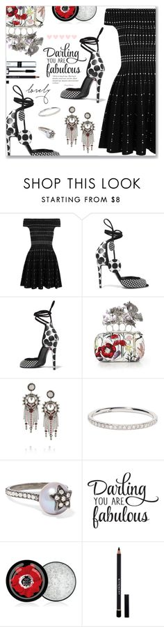"""Good night  :*"" by dressedbyrose ❤ liked on Polyvore featuring Alexander McQueen, Pierre Hardy, DANNIJO, Ileana Makri, Carolina Bucci, The Body Shop, Givenchy and By Terry"