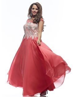 A-Line/Princess Jewel Short Sleeves Beading Floor-length Chiffon Plus Size Prom Dresses Cocktail Dresses Online, Evening Dresses Online, Cheap Evening Dresses, Womens Cocktail Dresses, Evening Gowns, Dress Online, Evening Party, Plus Size Prom Dresses, Homecoming Dresses