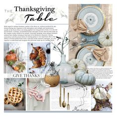 """Thanksgiving Table"" by thewondersoffashion ❤ liked on Polyvore featuring interior, interiors, interior design, home, home decor, interior decorating, Brewster Home Fashions, L.L.Bean, Buccellati and Jayson Home"