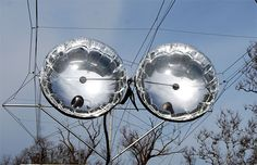 Solar Balloons attached to cables