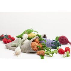 Kit de amigurumi frutas y verduras CR027K - Kit Amigurumis - DMC $19.95