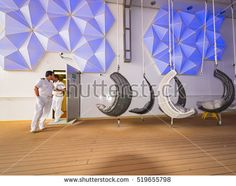View of recreation deck on cloudy day in summer o cruise ship in Teneriffa, Canary Islands, image for travel and Europe tourism news Europe Tourism, Norwegian Epic, Mars 1, Cloudy Day, Canary Islands, Cruise, Spain, Deck, Stock Photos