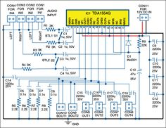 Here is a multi mode audio amplifier circuit based on configured for multi mode function with four channel outputs. Electronics For You, Electronics Basics, Electronics Projects, Network Infrastructure, Power Supply Circuit, Car Audio Amplifier, Electronic Engineering, Electronic Circuit, Sound Speaker