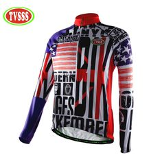 TVSSS Summer Mixed Colors Men s Long Sleeve Cycling Jersey with UK Flag  Pattern Thermal Bike Coat 04b346664