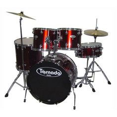 Mapex Tornado 5-Piece Drum Kit With Hardware and Cymbals - Wine Red