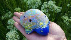 Turtle - gentle Ally. Ceramic Ocarina. Animals sculpture. by Jivizvuk on Etsy