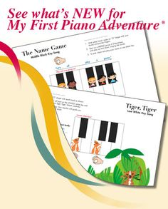 New pages for My First Piano Adventure®