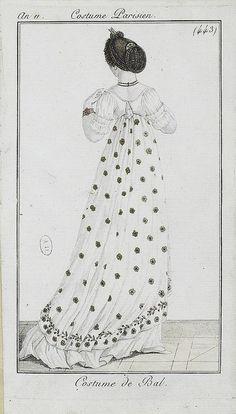 c. 1802 Costume Parisien, Ball Gown (443)