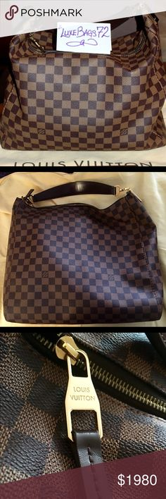 Selling this Louis Vuitton Portobello GM in Damier Ebene on Poshmark! My username is: luxebags72. #shopmycloset #poshmark #fashion #shopping #style #forsale #Louis Vuitton #Handbags