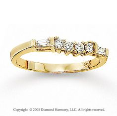 curved womens  wedding band with round and bagette dimonds | sparkling set of round and baguette diamonds ador this