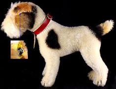 Gorgeous Steiff Wire Hair Fox Terrier Puppy Dog Foxy 2+ IDs