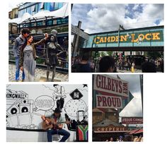 Spending the day in Camden Town Market. Camden makes The Top Ten List of Most Instagrammed Places in London.