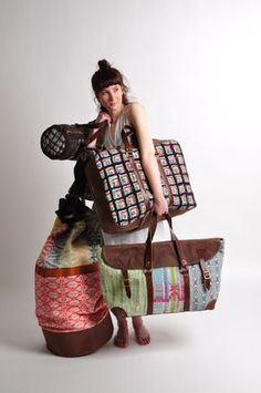 Colourful, fun and quirky woven and stitched fabrics inspired by accidental colour combinations and patchworked pattern.