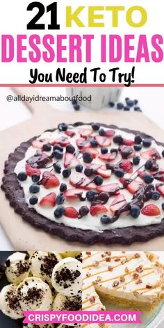 Get quick and easy keto dessert recipes to enjoy with your family. You'll find ideas for cream cheese, strawberries, lemons, chocolate, non-baked, coconut flour, peanut butter, low carb desserts that can be taken on a keto diet.#desserts #ketorecipes #ketodiet #lowcarb #weightloss #holiday #partyideas #thanksgiving #crispyfoodidea