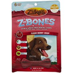Zuke's Z-Bones Regular Clean Berry Crisp Dental Dog Treats - 8ct *** Continue to the product at the image link. (This is an affiliate link) #Treats