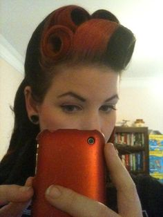 Beauty in the form of Victory Rolls! OMFG I AM IN LOVE. I need to grow my hair out more!