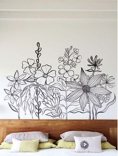 Poppytalk - The beautiful, the decayed and the handmade: Inspiration: Wall Mural by Geninne Zlatkis