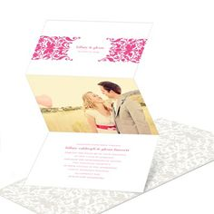 Divine Damask -- Photo Wedding Invitations