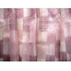 Peach Lilac Chain Stitch Embroidery Sheer by TheHomeCentric, $135.00