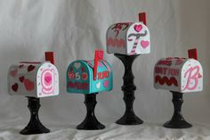 Mini mailboxes for Valentine mail