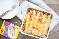 Ditrecept voorwitte asperge ovenschotel met gegratineerde kaas is van door blogger Brenda Kookt. Lasagna, Quiche, Macaroni And Cheese, Oven, Low Carb, Breakfast, Ethnic Recipes, Simple, Food