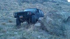 My dads Jeep rock crawling