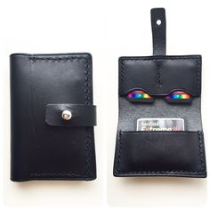 Black leather memory card case nasastyle.com Leather Bags, Leather Craft, Black Leather, Card Case, Pouches, Cards, Leather Tote Handbags, Leather Crafts