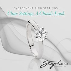 A claw settings can either be tall or short. If they are tall the diamond is usually positioned high above the band, but if it is short it is positioned closer to the finger. #Stephensjewellers #Jewellery #Gold #Rings #diamond http://www.stephensjewellers.com.au/