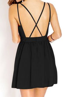 Crisscross Cutout Back Dress