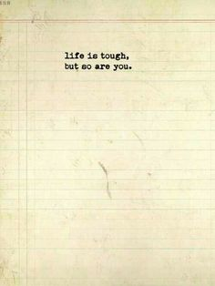 Keep your chin up!