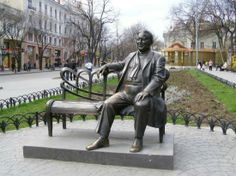 Odessa, Ukraine: Памятник Леониду Утёсову, город Одесса