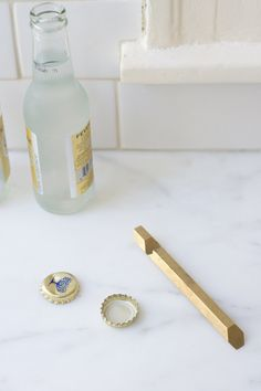 Brass Hex Bottle Opener