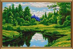 вышивка крестом пейзажи и природа схемы: 17 тыс изображений найдено в Яндекс.Картинках